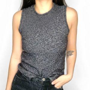 Everlane Heather Gray Wool Sleeveless Shirt Small